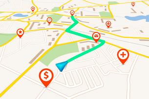 Navigation mapのイラスト素材 [FYI03100315]