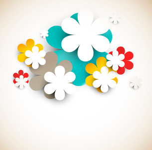 Abstract background with flowers. Bright illustrationのイラスト素材 [FYI03100319]
