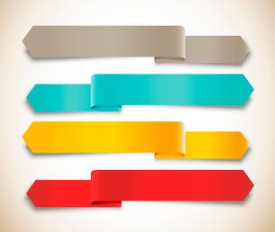 Set of ribbonsのイラスト素材 [FYI03100335]