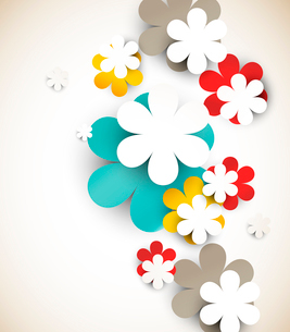 Abstract background with flowersのイラスト素材 [FYI03100384]