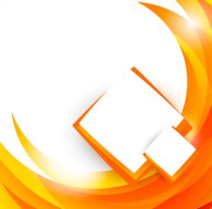 Abstract orange brochureのイラスト素材 [FYI03100435]