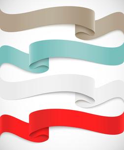 Set of ribbonsのイラスト素材 [FYI03100436]