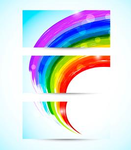Set of rainbow bannersのイラスト素材 [FYI03100439]