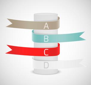 Set of ribbonsのイラスト素材 [FYI03100508]