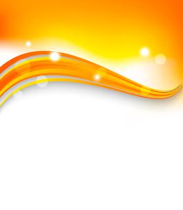 Abstract orange wavy background. Bright summer design. Vector illustrationのイラスト素材 [FYI03100585]