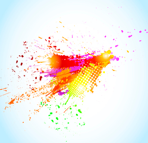 Abstract grunge background. Paint splash design. Vector colorful illustrationのイラスト素材 [FYI03100599]