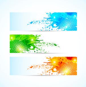 Set of grunge banners.のイラスト素材 [FYI03100609]