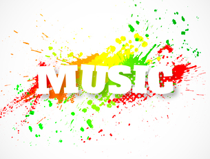 Music backgroundのイラスト素材 [FYI03100618]
