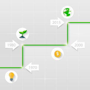 Timeline. Business conceptのイラスト素材 [FYI03100645]
