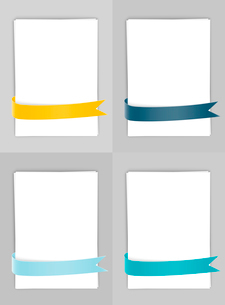 Set of banners with ribbonsのイラスト素材 [FYI03100729]