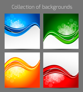 Set of wavy backgroundsのイラスト素材 [FYI03100743]