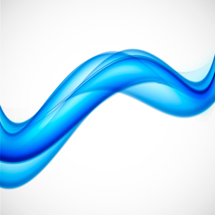 Abstract background in wavy style. Blue vector illustrationのイラスト素材 [FYI03100758]