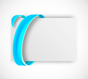 Abstract card with blue tape. Gift banner illustrationのイラスト素材 [FYI03100759]