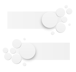 Abstract banners with paper circles. Vector illustrationのイラスト素材 [FYI03100763]