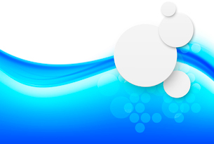Abstract background with paper circles in blue colorのイラスト素材 [FYI03100770]