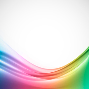 Abstract bright background in wavy colorful styleのイラスト素材 [FYI03100780]