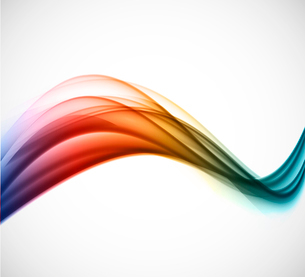 Abstract background colorful wave in soft styleのイラスト素材 [FYI03100784]