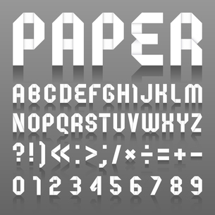 Alphabet folded of paper. Roman alphabet (A, B, C, D, E, F, G, H, I, J, K, L, M, N, O, P, Q, R, S, Tのイラスト素材 [FYI03100832]