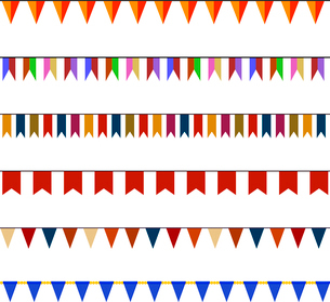 Set of Christmas festive flags on ropesのイラスト素材 [FYI03100844]