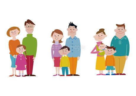 家族、親子の集合のイラスト素材 [FYI03100849]