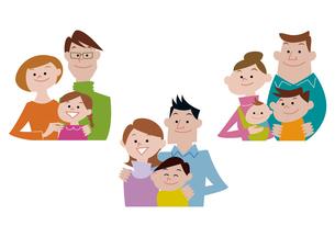 家族、親子の集合のイラスト素材 [FYI03100851]