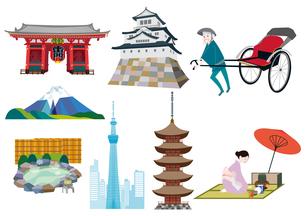 日本の観光名所のイラスト素材 [FYI03100859]