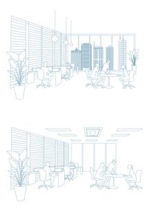 オフィス風景のイラスト素材 [FYI03100868]