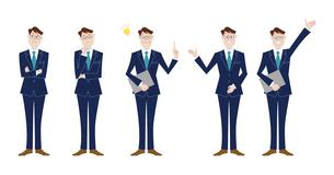 ビジネスマン 表情バリエーションのイラスト素材 [FYI03100889]