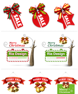 The illustration of Christmas decoration and Christmas patternのイラスト素材 [FYI03101170]