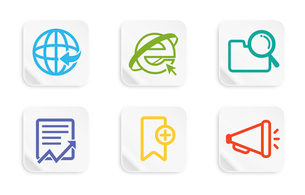 The illustration of globalization iconsのイラスト素材 [FYI03101221]