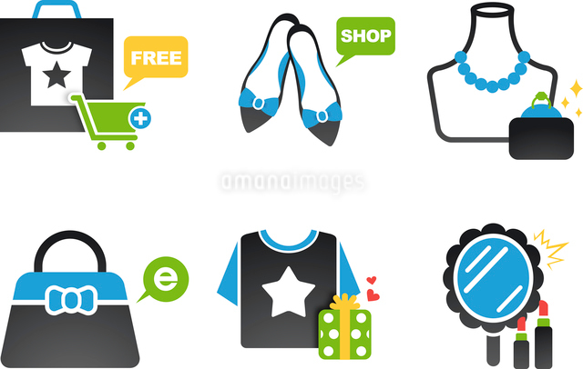 The illustration of clothing and accessories from shoppingのイラスト素材 [FYI03101341]
