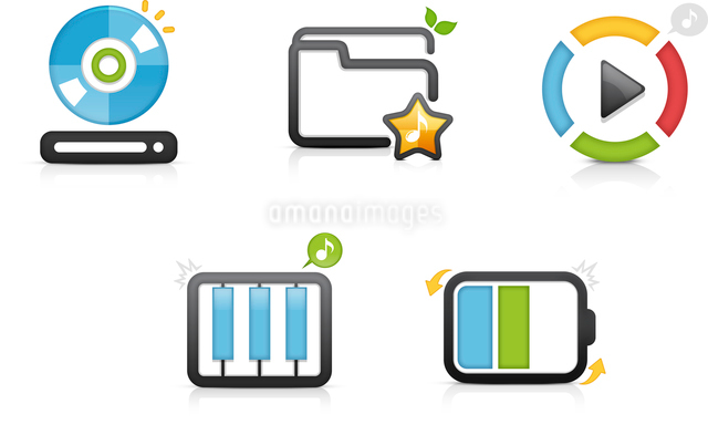 The illustration of various high technology equipmentsのイラスト素材 [FYI03101380]