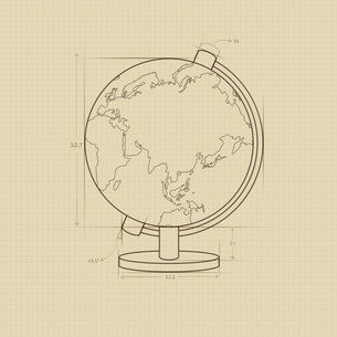 The illustration of globe and travelのイラスト素材 [FYI03101406]