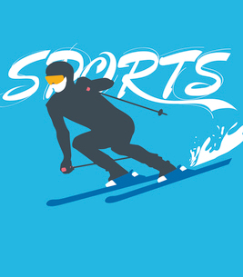 The illustration of winter sports in Winter Olympicsのイラスト素材 [FYI03101477]