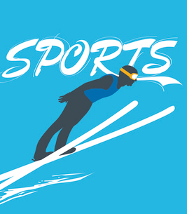 The illustration of winter sports in Winter Olympicsのイラスト素材 [FYI03101480]