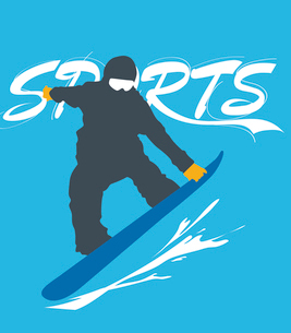 The illustration of winter sports in Winter Olympicsのイラスト素材 [FYI03101483]