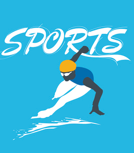 The illustration of winter sports in Winter Olympicsのイラスト素材 [FYI03101486]
