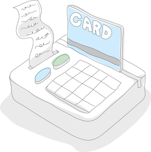 The illustration of credit card and expensesのイラスト素材 [FYI03101500]