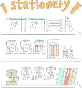 The illustration of stationeryのイラスト素材 [FYI03101501]