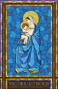 Christianity Stained Glassのイラスト素材 [FYI03101538]