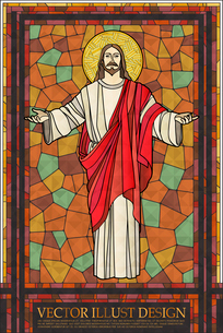 Christianity Stained Glassのイラスト素材 [FYI03101540]
