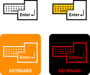 Keyboard iconのイラスト素材 [FYI03101543]