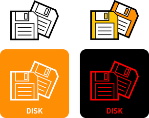 Disk iconのイラスト素材 [FYI03101549]