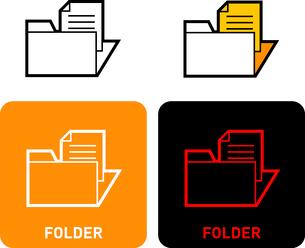 Folder iconのイラスト素材 [FYI03101550]