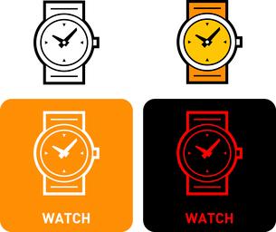 Watch iconのイラスト素材 [FYI03101555]