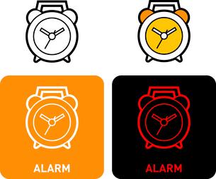 Alarm clock iconのイラスト素材 [FYI03101556]