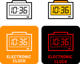 Electronic Watch iconのイラスト素材 [FYI03101557]