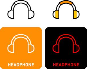 Headphone iconのイラスト素材 [FYI03101571]