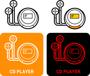 CD player iconのイラスト素材 [FYI03101574]
