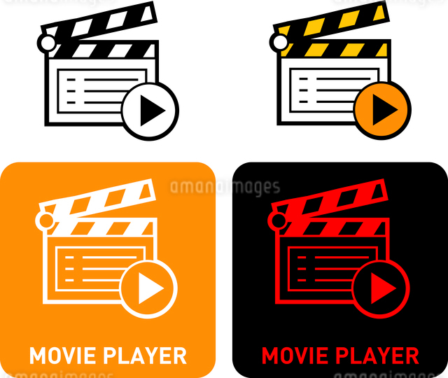 Movie Player iconのイラスト素材 [FYI03101582]